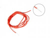 Silicone Wire High Temperature Corrosion Resistant 3KV UL 3239 Grade 22AWG (3 meter Red)
