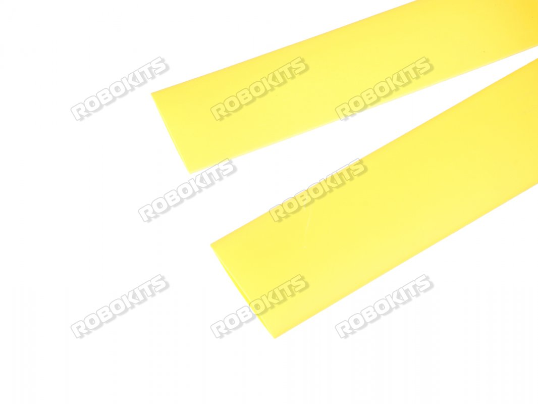 Heat Shrink Sleeve 8 mm Yellow 1 meter Premium Quality Industrial Grade WOER (HST) - Click Image to Close