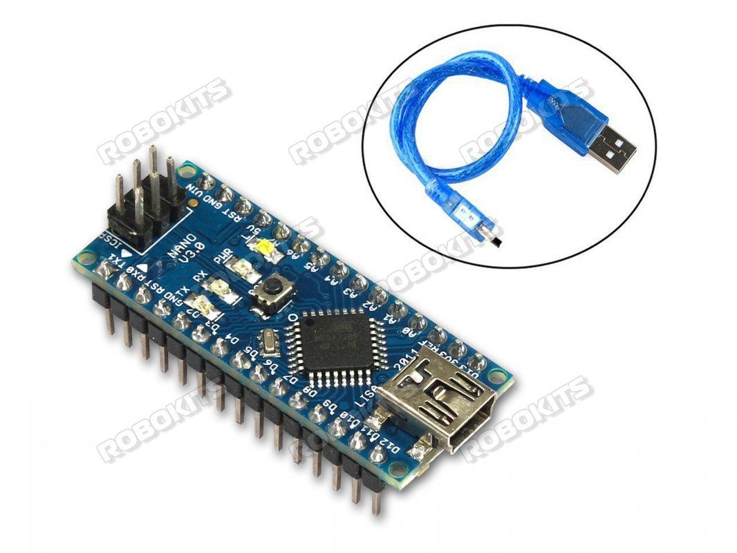 Arduino Nano R3 Board CH340 Chip with USB CABLE