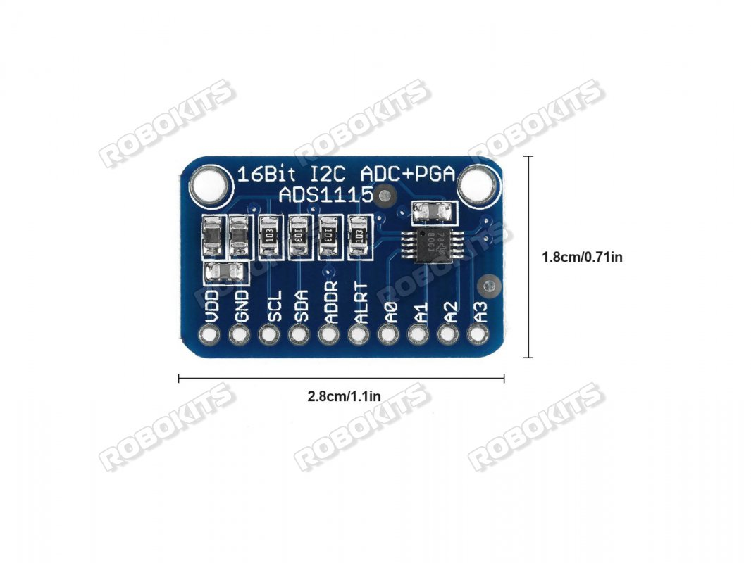ADS1115 16 Bit I2C ADC Analog to Digital Converter Module