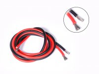 High Temprature Super Flexible Grade Silicone Wire 6AWG  (50cm Black+50cm Red)