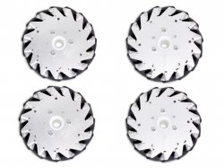 152mm Mecanum Wheel Set (2x Left, 2x Right) Basic - Bush type rollers