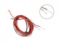 Silicone Wire High Temperature Corrosion Resistant 3KV UL 3239 Grade 26AWG (3m Black+3m Red)