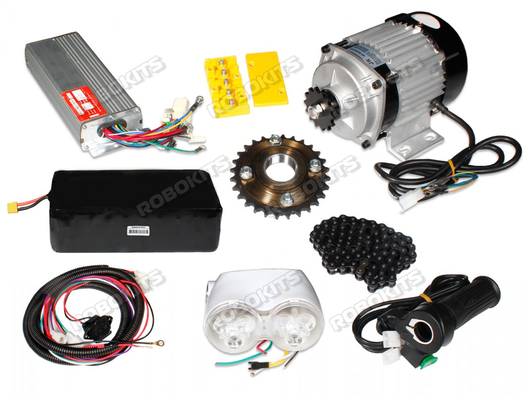 E-Bike 48V 400RPM 750W BLDC Geared Motor with Complete E-Bike Accessories Kit and Battery - Click Image to Close