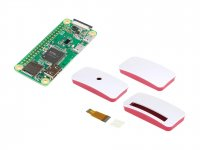 Raspberry Pi Zero Wireless W with Red White Dustproof Case