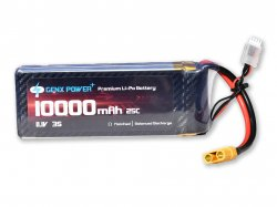 GenX 11.1V 3S 10000mAh 40C / 80C Premium Lipo Lithium Polymer Battery with XT-90 Connector