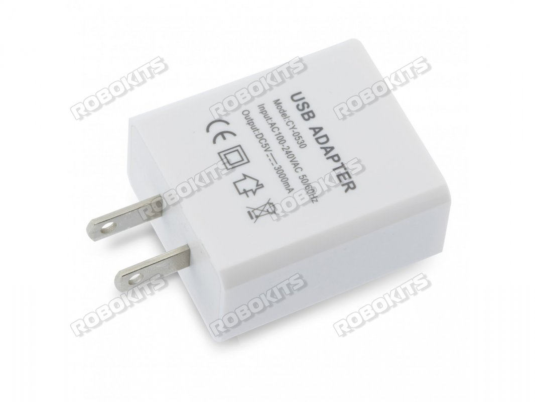 USB Charger EU 5V 3A Power Adapter