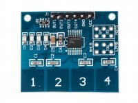 Capacitive Four point Touch Module based on TTP224