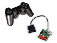RF 2.4Ghz Multi Channel Wireless PS2 Remote & Motor Driver 20A for 2 Motors