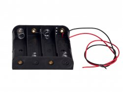 Battery Holder 4X AA Cells 6VDC