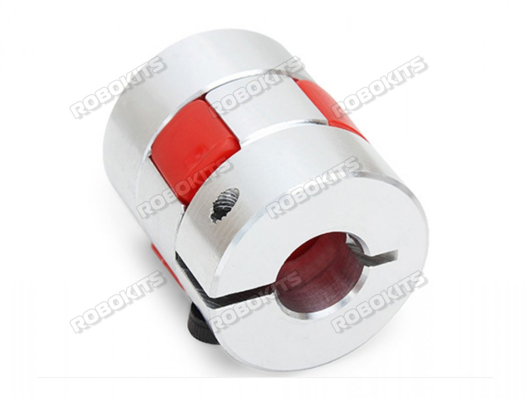 Astro 6mmx8mm Aluminum Flexible Spider Plum Shaft Coupling OD25mm x L30mm For CNC Stepper Motor - Click Image to Close