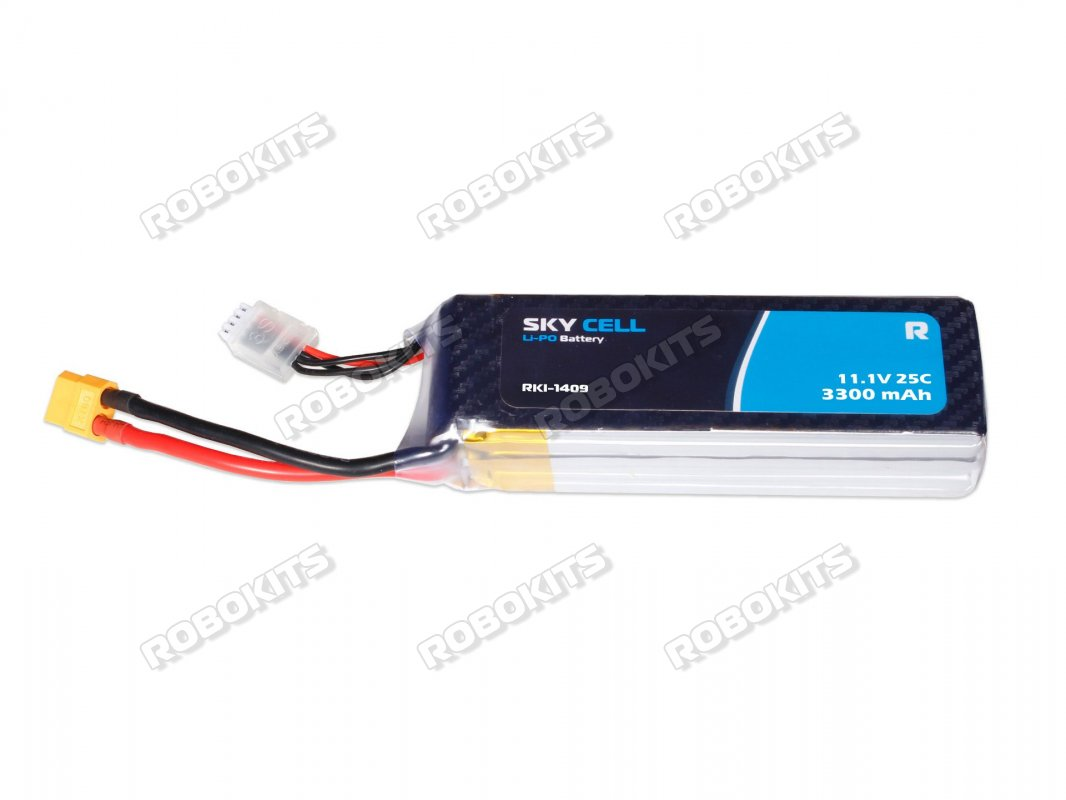 Lithium Polymer ( LiPo) Rechargeable Battery 11 1V 3300mAH 25C