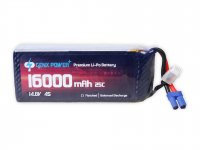 GenX 14.8V 4S 16000mAh 25C / 50C Premium Lipo Battery with EC5 Connector