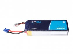 Skycell 22.2V 6S 10000mah 25C (Lipo) Lithium Polymer Rechargeable Battery