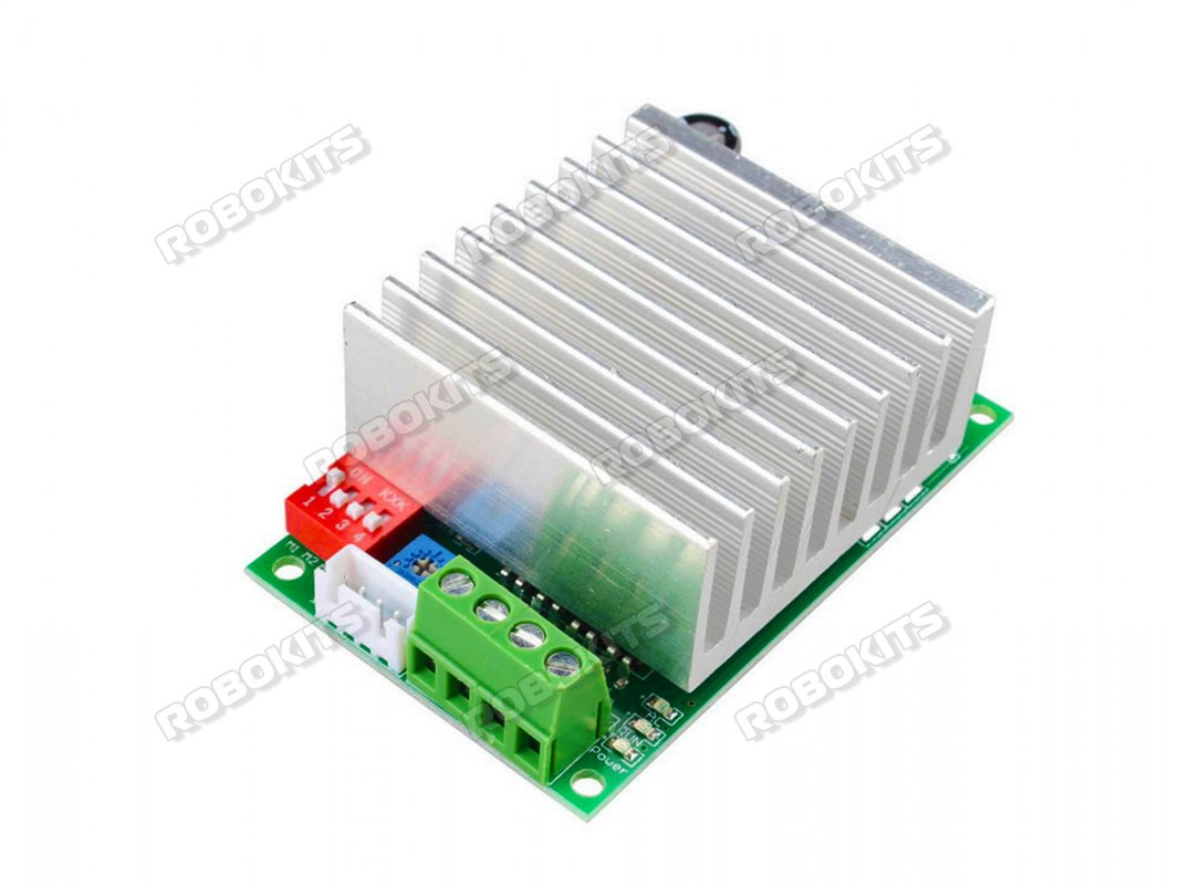 Tb6600 Stepper Driver 45a Rki 1108 575 Robokits India Easy Electronics Electrical Mini Projects Steeper Motor Control Using