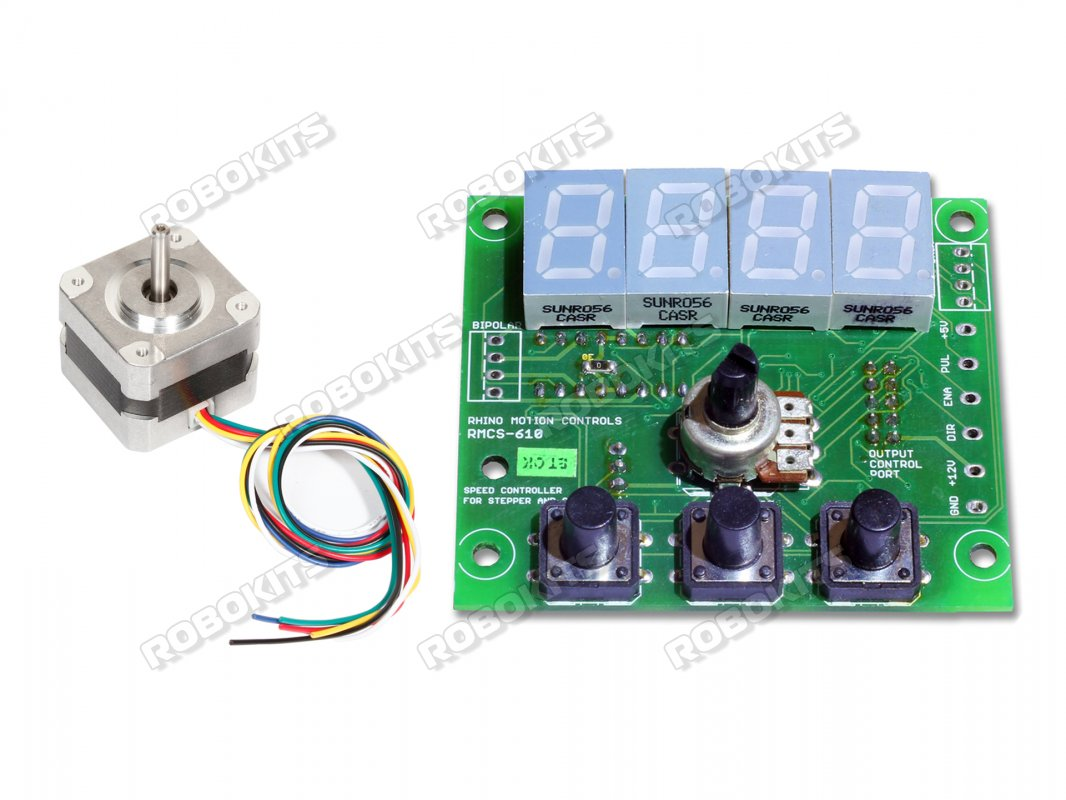 Nema17 High Torque Stepper Motor with Rhino digital speed controller