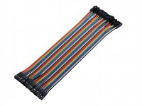 1 pin Dual Female jumper wire 40pcs pack