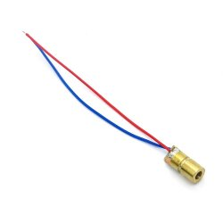 Mini 650nm 6mm 5mW 5V Laser Module Red