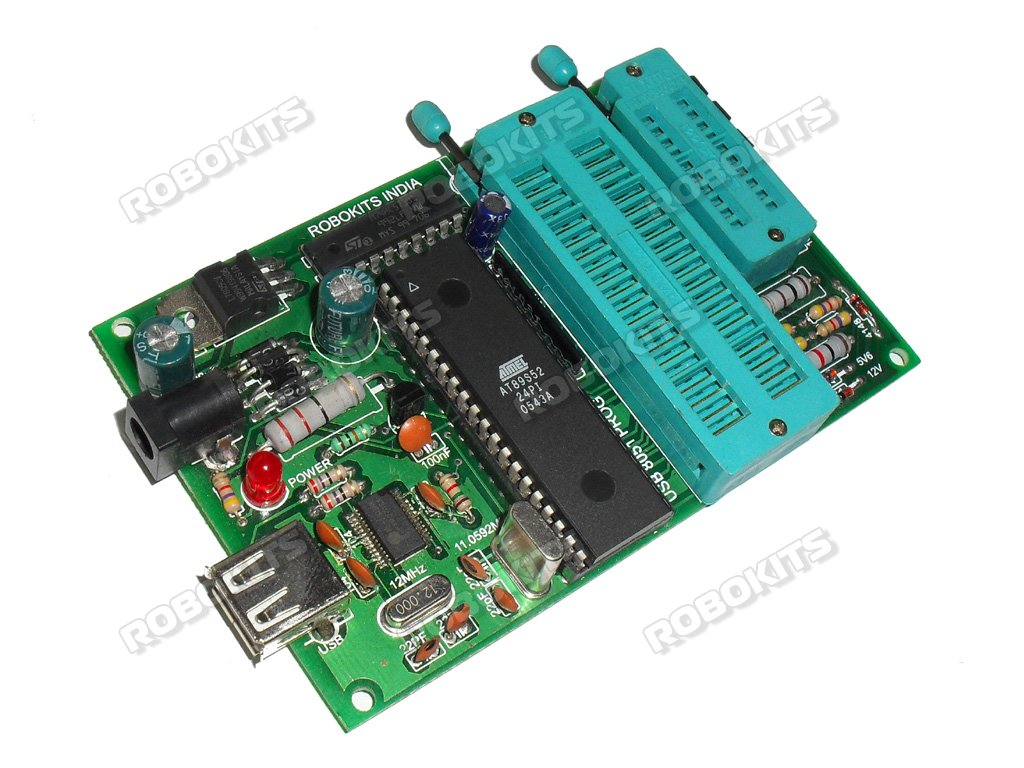 Usb 8051 Programmer For Atmel 89xxx Series Rki 1389 1100 Interfacing Relay With Microcontroller Circuit