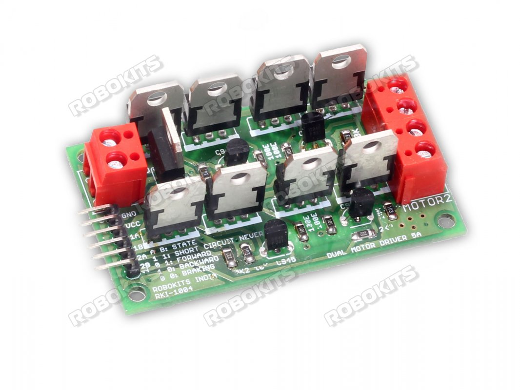 Dual Motor Driver Electronic 5 Amp Rki 1004 250 Robokits Simple Rf Remote Control Circuit Without Microcontroller