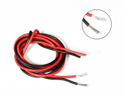 Silicone Wire High Temperature Corrosion Resistant 3KV UL 3239 Grade 12 AWG (1m Black + 1m Red)