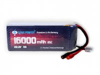 GenX Power Premium 22.2V 6S 16000mAh 25C / 50C Lipo Battery with AS150 Connector