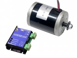 EBIKE DC MOTOR MY6812 12V 2650RPM 100W WITH RMCS-2302 DRIVE