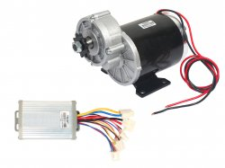 E-BIKE DC GEARED MOTOR MY1016Z 24V 480RPM 450W WITH CONTROLLER