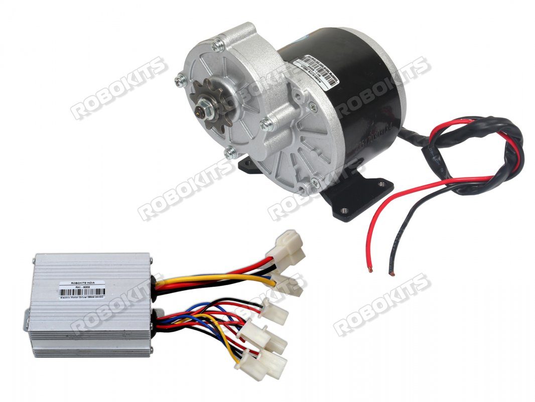 E Bike Dc Geared Motor 24v 300rpm 350w With Controller Rki 9102 Go Back Gt Gallery For Simple Electric Circuit Kids