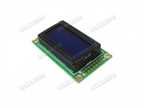 SPLC780D 0802 8x2 Blue Screen LCD Display