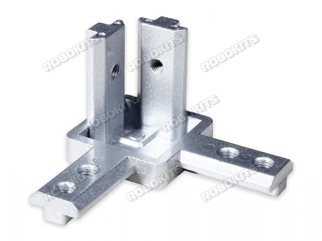 Standard 3 Way Inside Corner Brackets connector for 4040 Profile - Click Image to Close