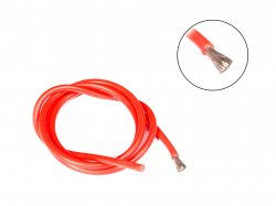 High Temprature Super Flexible Grade Silicone Wire 10AWG (1 meter Red)