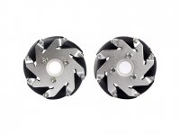 60mm Mecanum Wheel Set (1x Left, 1x Right)