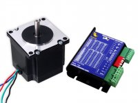 Stepper Motor NEMA23 10KgCm torque with 5A Microstepping Drive