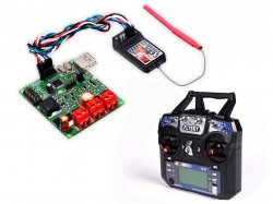 FLYSKY FS-I6 6CH 2.4GHZ TX with receiver and Dual 20A DC driver
