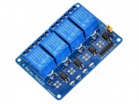 Opto-isolated 4 Channel 5V 10A Relay Board