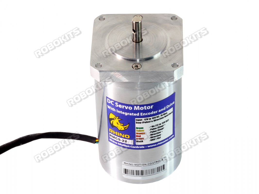 High Torque Encoder DC Servo Motor 60RPM with UART/I2C/PPM Drive - Click Image to Close