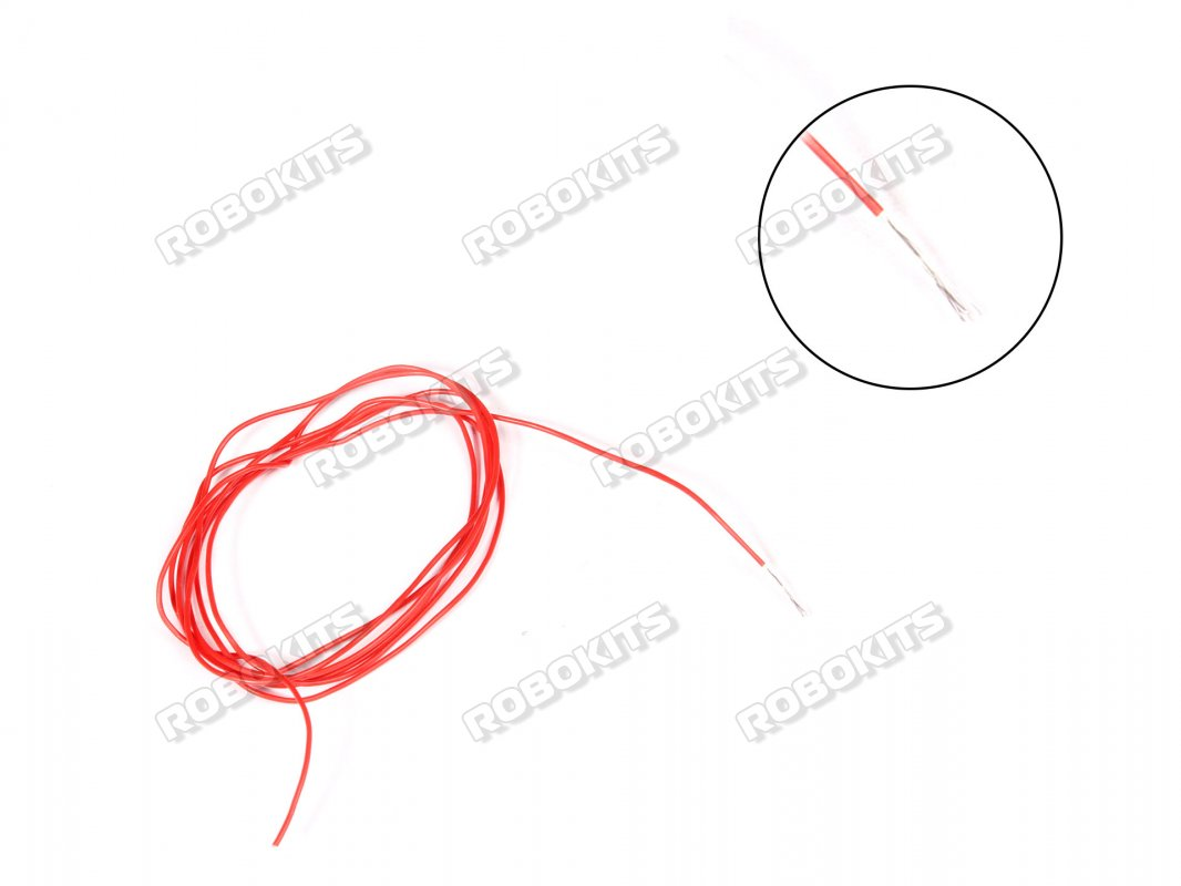 High Temprature Super Flexible Grade Silicone Wire 30AWG (5 meter Red) - Click Image to Close