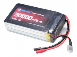 GenX 22.2V 6S 30000mAh 25C / 50C Premium Lipo Battery with AS150+XT150 Connector