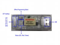Nuvoton NWR-005 ICP ISP Debugger and Programmer with new Tang 8051 Microcontroller (Original)