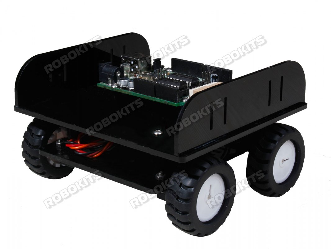 Four Wheeled Robot with N20 Metal Gear Motors - DIY KIT - Click Image to Close