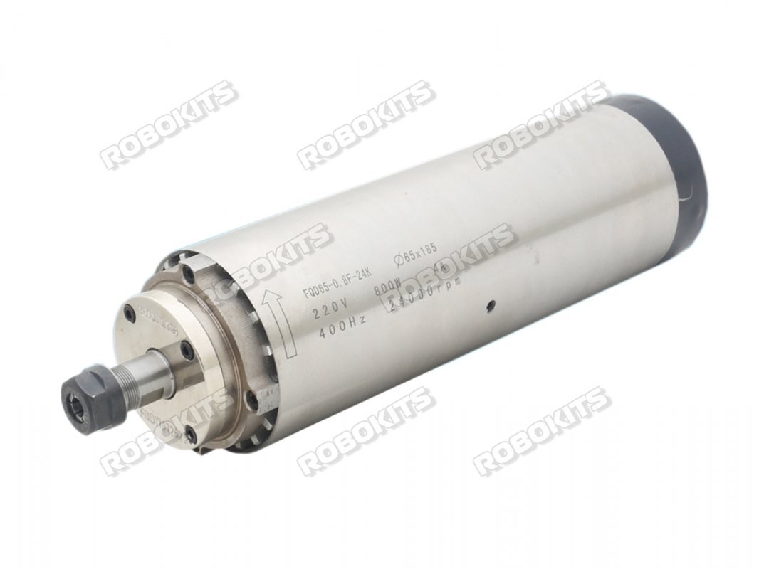 CNC Spindle 800W ER11 Air Cooled 220V 24000RPM Quad Bearing 65mm - Click Image to Close
