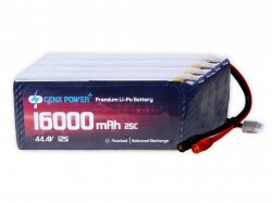 GenX 44.4V 12S 16000mAh 25C / 50C Premium Lipo Battery with AS150 Connector