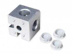 Three Way Angle Cubic Connector Junction Corner Bracket for 4040 Series Aluminium Profile