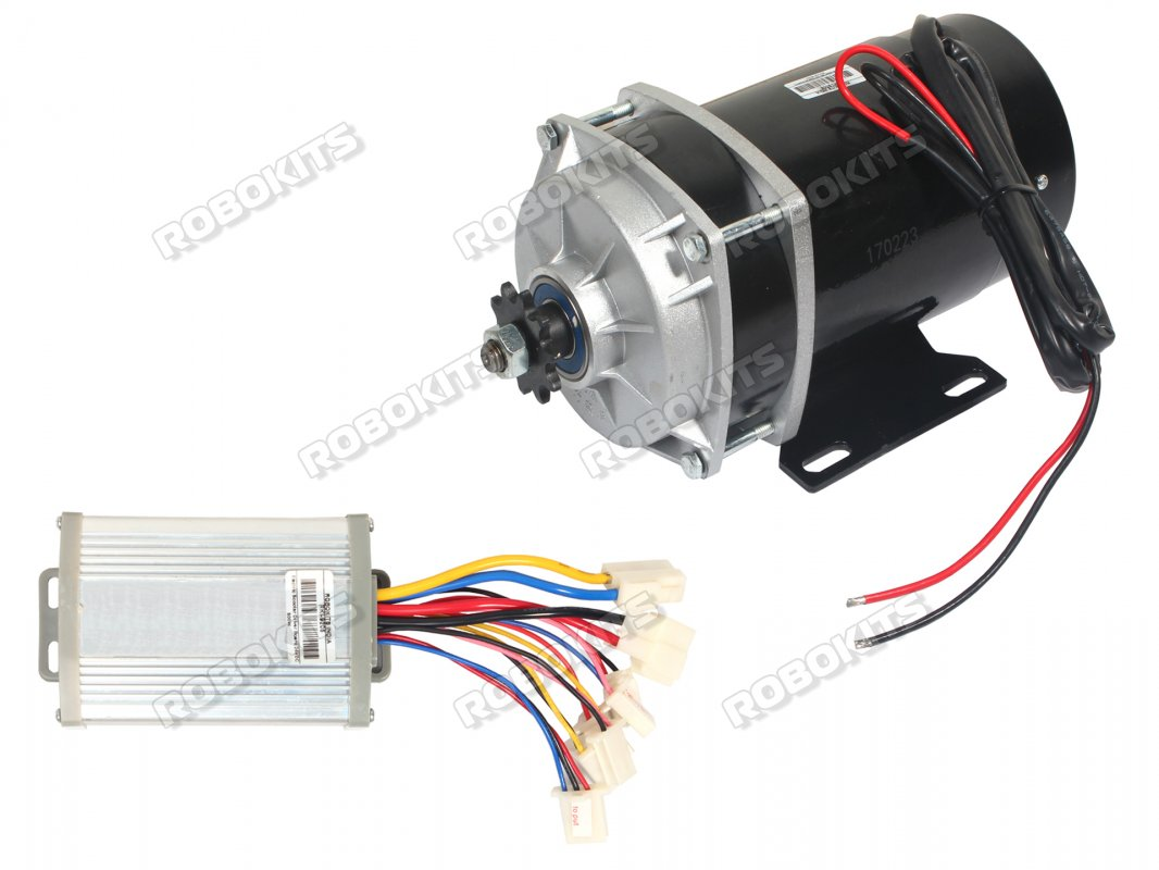E-Bike DC Geared Motor 24V 530RPM 650W with Controller - Click Image to Close
