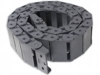 Cable Drag Chain Wire Carrier with end connectors 18x50mm 1Meter