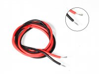 Silicone Wire High Temperature Corrosion Resistant 3KV UL 3239 Grade 10AWG (1m Black+1m Red)
