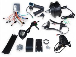 E-BIKE 36V 250W 400RPM HUB MOTOR MY1020Z WITH PEDAL ASSIST COMPATIBLE CONTROLLER FULL KIT