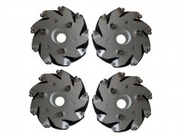 100mm Mecanum Wheel Set (2x Left, 2x Right)
