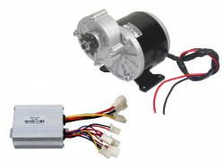 E-BIKE DC GEARED MOTOR MY1016Z2 24V 300RPM 350W WITH CONTROLLER